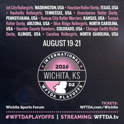 Brandywine Belligerents Qualify for 2016 WFTDA D2 Playoffs in Wichita, KS